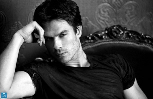 Damon Salvatore wallpaper entitled The Vampire Diaries - Season 5 - New Cast Photo of Damon