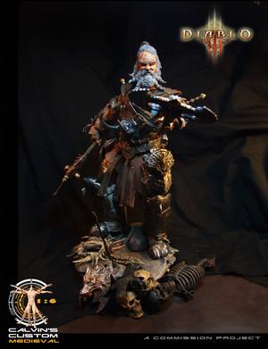 Calvin's Custom One Sixth Scale Diablo 3 Barbarian figure