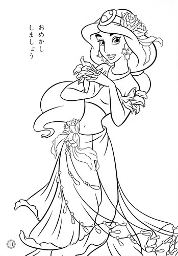 Disney-Prinzessin Hintergrund probably with an mandel baum titled Disney Princess Coloring Pages - Princess jasmin