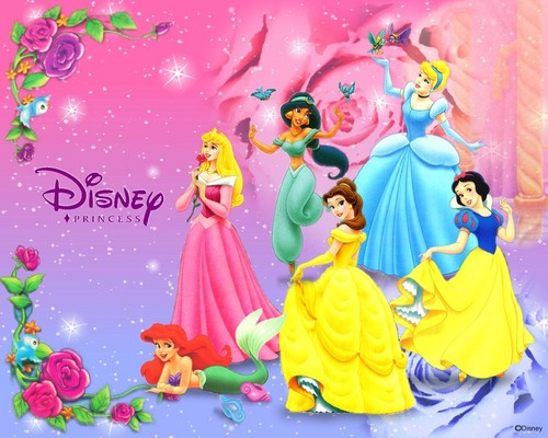 Disney-Prinzessin Hintergrund titled Glitter Fantasy
