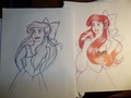 Ariel drawing in process.  - disney-princess photo