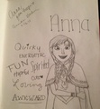 Drawing of Anna - disney-princess photo