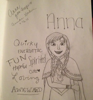 Drawing of Anna