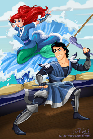 Ariel and Eric as Water Tribe Warrior