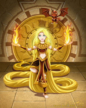 Rapunzel, Sun Warrior