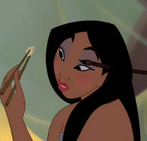 Mulan's thinker look