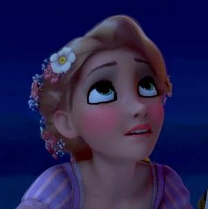 Rapunzel's momentous look