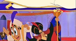 Disney Princess Screencaps - The Sultan, Carpet, Prince Aladdin, Jafar & Iago