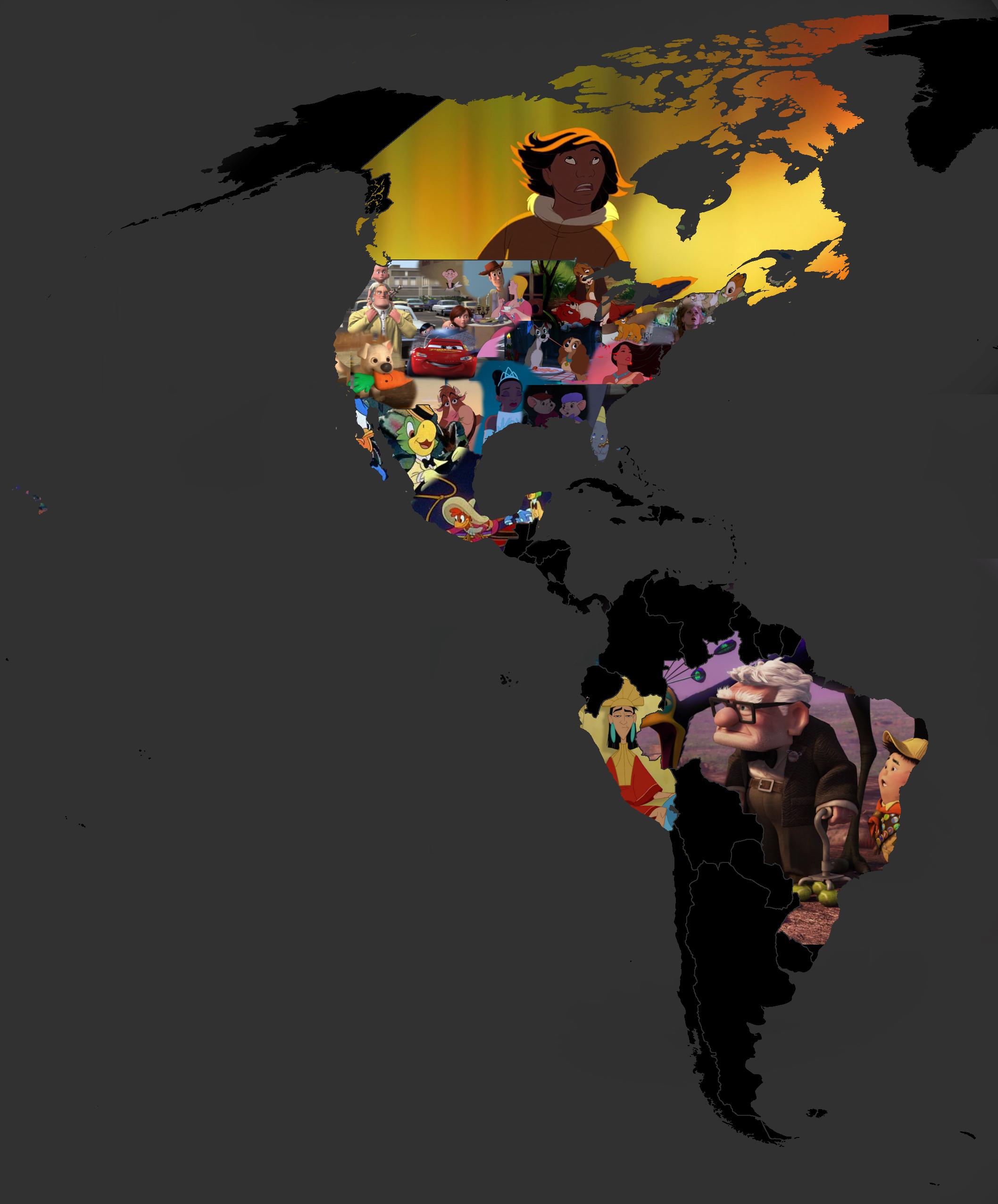 Disney Bilder Disney Filme map (America) HD Hintergrund and ... on