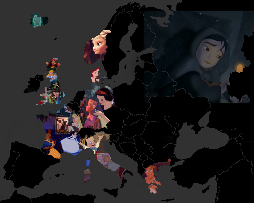 Disney movies map (Europe) - Disney Photo (36433282) - Fanpop on