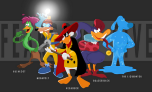 """The Arch Villains From The डिज़्नी Cartoon, """"Darkwing Duck"""""""