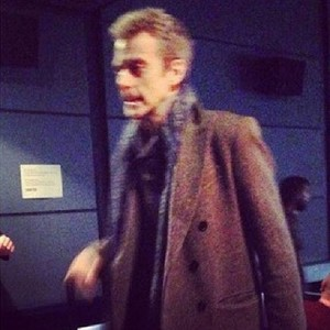 Peter Capaldi on set of series 8