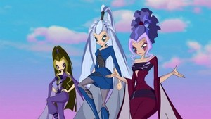 Icy, Stormy and Darcy in their Dark Witch form