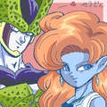 Cell X Zangya - dragon-ball-females fan art