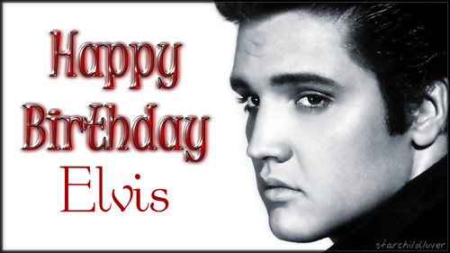 Elvis Presley karatasi la kupamba ukuta called Happy Birthday Elvis...January 8th, 1935