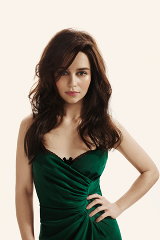 Emilia Clarke fond d'écran probably with a dîner dress, a cocktail dress, and a strapless titled Emilia Clarke
