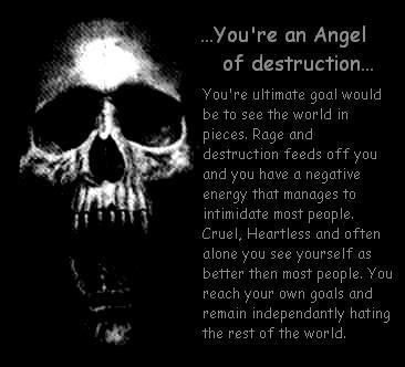 Emo Poems Wallpaper Entitled Angel Of Destruction