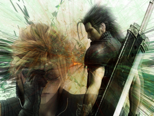 Final fantasy VII wallpaper titled nube, nuvola and Zack