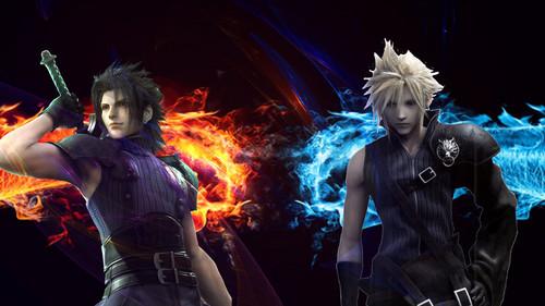 Final Fantasy VII پیپر وال titled بادل and Zack