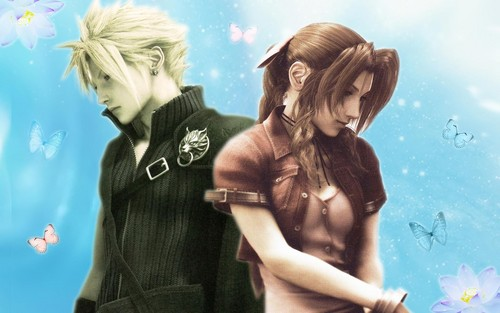 Final Fantasy VII پیپر وال containing a portrait titled بادل and Aerith