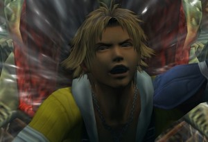Tidus nearly getting swallowed