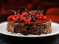 chocolate-fruit-cake-dessert - food wallpaper