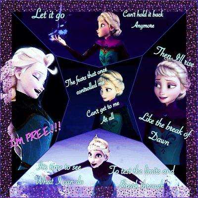 Frozen Wallpaper Titled Elsa Collage