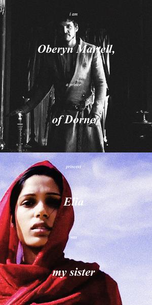 Oberyn Martell & Elia Martell