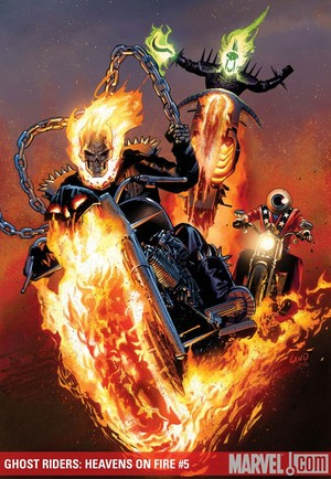 ghost rider vs green man