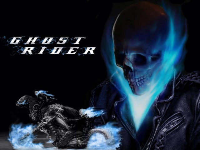 ghost rider blue flame