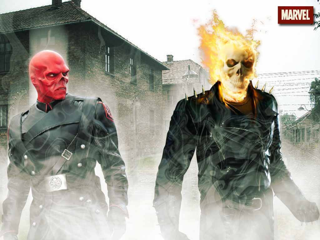 The Ghost Rider Images Red Skull Vs HD Wallpaper And Background Photos