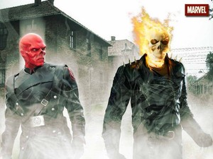 red skull vs ghost rider