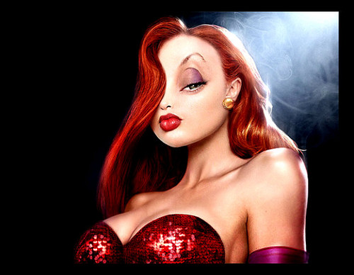Jessica Rabbit Hintergrund possibly containing attractiveness and a portrait entitled HELLO THERE