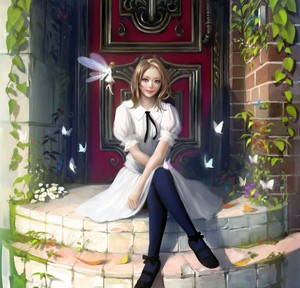Girl and fairy