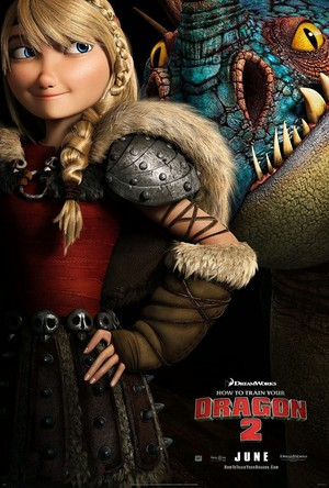 New How To Train Your Dragon 2 Poster Featuring Astrid and Stormfly (HD)