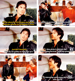 Ian talking about him and Nina