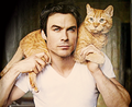 Ian and Moke ♥ - ian-somerhalder fan art