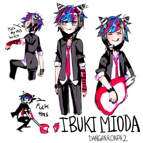 Ibuki Mioda wolpeyper possibly with anime titled Genderbend Ibuki