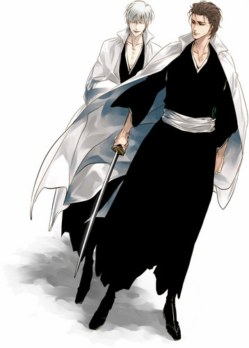 Ichimaru gin wallpaper possibly with a surcoat called *Gin/Aizen*