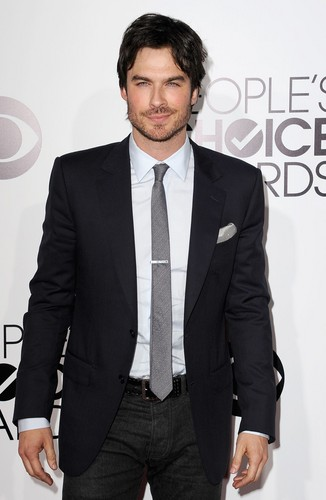 Ingrid's Graceland 壁紙 with a business suit, a suit, and a single breasted suit entitled Ian Somerhalder at PCA 2014