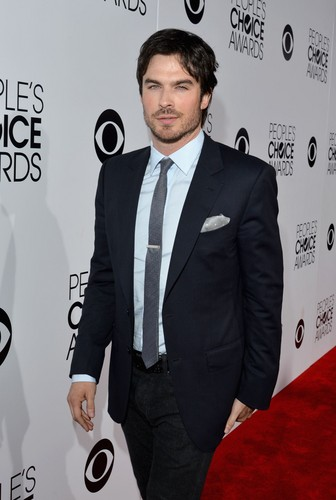 Ingrid's Graceland kertas dinding containing a business suit, a suit, and a two piece titled Ian Somerhalder at PCA 2014