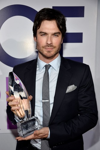 Ingrid's Graceland kertas dinding with a business suit and a suit titled Ian Somerhalder at PCA 2014