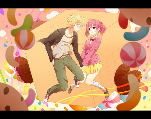 Inu x Boku SS karatasi la kupamba ukuta containing anime titled Karuta