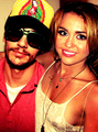 james franco and miley cyrus - james-franco fan art