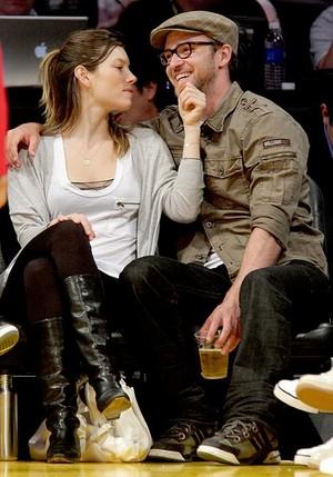 Jessica with her husband Justin Timberlake