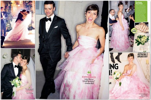 Jessica Biel karatasi la kupamba ukuta with a bridesmaid called Jessica's wedding with Justin Timberlake