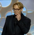 Johnny Depp presenting at the Golden Globes 2014 - johnny-depp photo