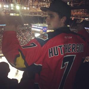 Josh at the Hockey Game