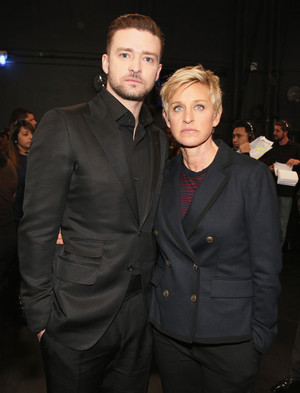 JT and Ellen at People's Choice awards 2014 (Jan 8th)