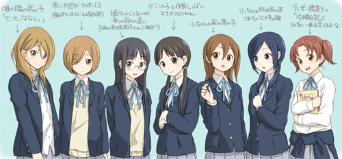K-ON! wallpaper entitled K-on! Background characters